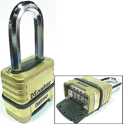 Master Lock Brass Padlock 1175lh Resettable Set To Your Own Combination
