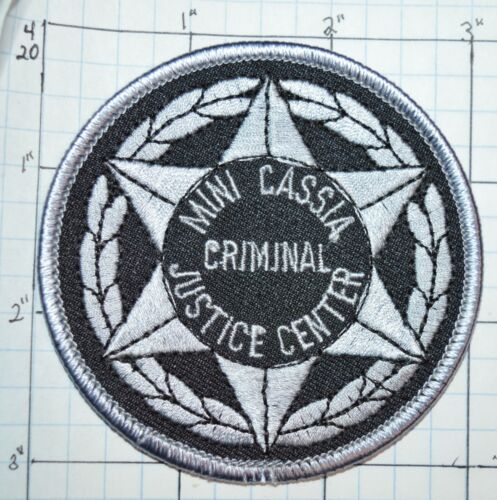 "IDAHO, MINI CASSIA CRIMINAL JUSTICE CENTER 3"" PATCH"