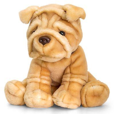 Plüschtier Hund Sharpei Kuscheltier Signature Puppies, Stofftier braun ca.35 cm