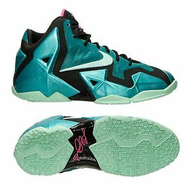 NEW Nike Lebron XI 11 Youth Kids Shoes, Turq/Mint/Black, 621712-303, Size 5.5Y