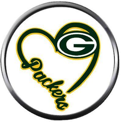 NFL Green Bay Wisconsin Packers Heart Logo Football Fan Team Spirit 18MM - 20MM  20' Nfl Football Fan