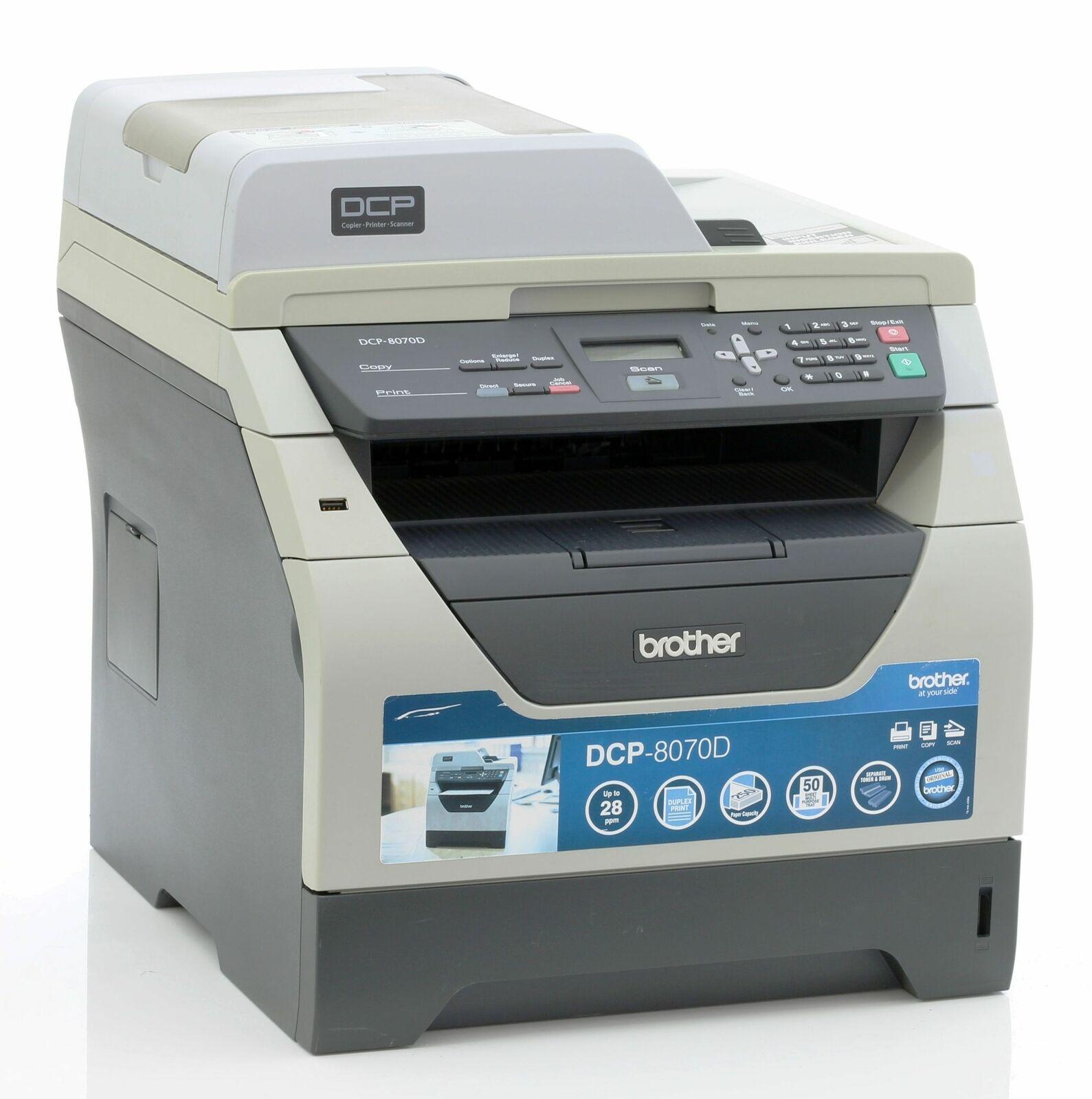 Brother dcp-8070d imprimante laser imprimante scanner photocopieuse utilisé