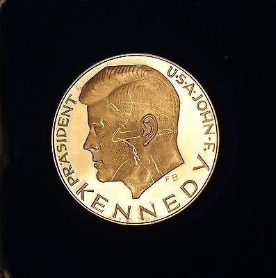 1963 German John F Kennedy Circulat Proof Gold Medal Wir Alle Haben Ihn Verloren