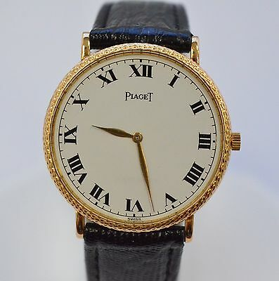 W523- Piaget vintage 18k Yellow Gold Swiss made fine jewelry watch