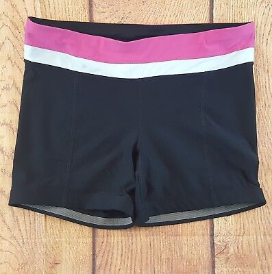 Xersion Women's Shorts Fitted Black Pink Size Large Athletic Wear