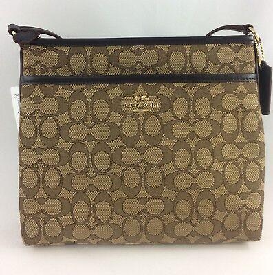 New Authentic Coach F29960 File Bag Messenger Crossbody Bag Purse Handbag Khaki