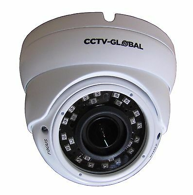 3MP SENSOR HD TVI AHD CVI ANALOGUE CCTV WHITE DOME CAMERA 2.8-12mm LENS 30m IR