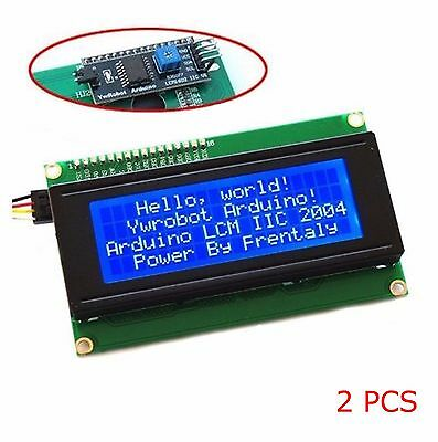 2x Blue Serial Iici2ctwi 2004 20x4 Character Lcd Module Display For Arduino