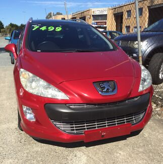 2011 PEUGEOT 308 RED AUTOMATIC WAGON Nerang Gold Coast West Preview