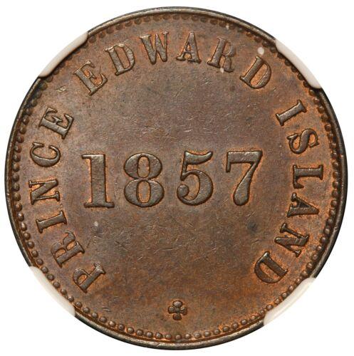 1857 Canada Prince Edward Island Free Trade Token PE-7C4 - NGC AU 58 BN  TOP POP