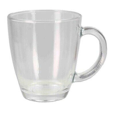 Home Basics NEW Clear Glass Mug 12 oz - GC44711 - Clear Mugs