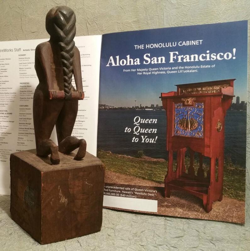 YE OLDE CURIOSITY SHOP antique seattle alaska pacific wood vtg tiki totem pole