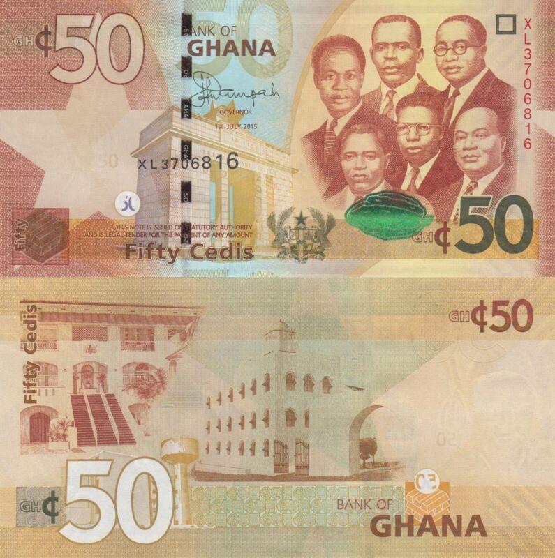 Ghana 50 Cedis (01.7.2015) - Big Six/Gov