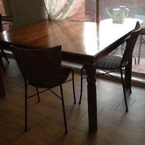 Dining table and six chairs Hamilton Newcastle Area Preview