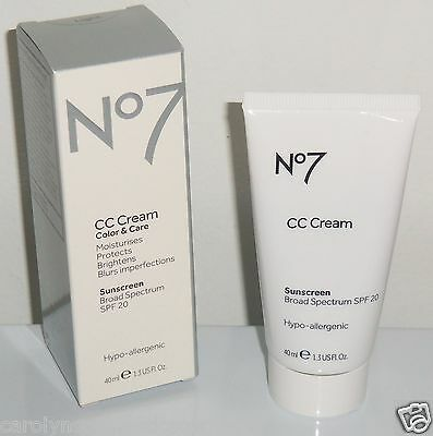 *BRAND NEW IN BOX* Boots No 7 CC Cream Color & Care SPF20 1.3 floz(40ml) - LIGHT