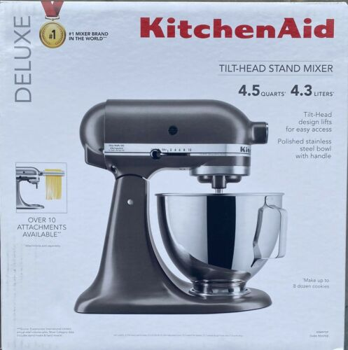 BRAND NEW - KitchenAid deluxe  4.5 Qt. 10-Speed Onyx Black Stand Mixer KSM97DP