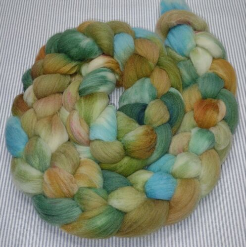 Fine Wool Combed Top Roving Spinning Handpainted Dyed Felt USA NWT Grotto 5.6