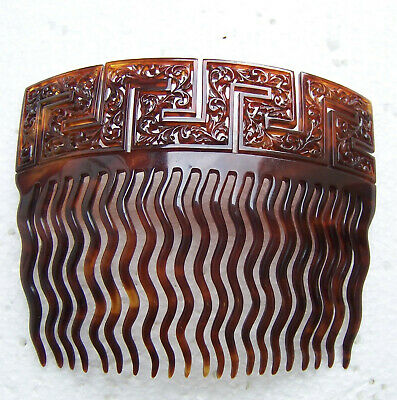 Victorian Wigs, Hair Pieces  | Victorian Hair Jewelry Victorian hair comb with Greek key design hair accessory $120.00 AT vintagedancer.com