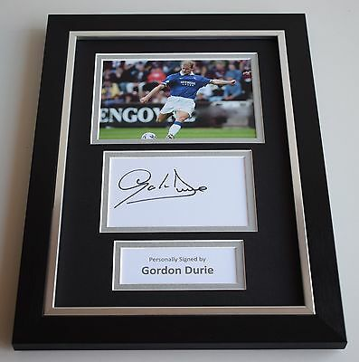 Gordon Durie Signed A4 FRAMED photo Autograph display Glasgow Rangers AFTAL COA