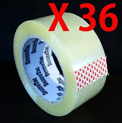 2x110 Yard330 Packaging Sealing Packing Box Cartonclear Duck Tape 36 Rolls