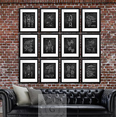Star Wars Home Decor Unframed Art Prints Poster Set of 12 Boys Room Decor Ideas - Star Wars Decorating Ideas