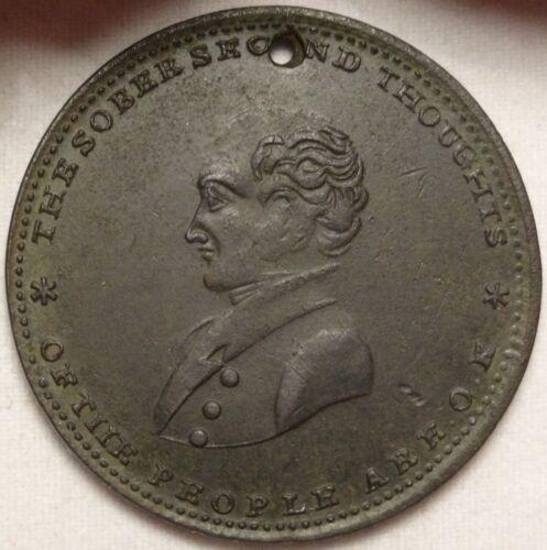 1840 Martin Van Buren Political Hard Times Token HT-75 The Sober Second Thoughts