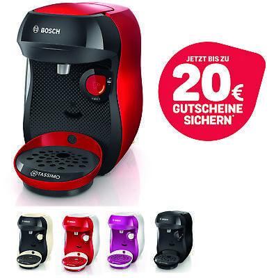 Bosch TASSIMO Happy + 20 EUR Gutscheine* Heißgetränkemaschine Kapsel Maschine Tassimo-maschine