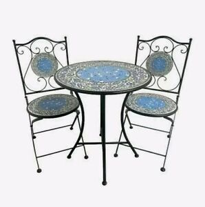 3 Piece Mosaic Outdoor Setting Bistro or Patio Set *12 Colours*
