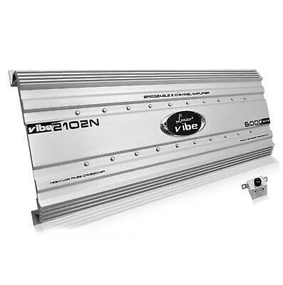 Lanzar Vibe 6000 Watt 2 Channel Bridgeable Full Car Stereo Mosfet Amplifier