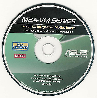ASUS M2A-VM AND M2A-VM HDMI Motherboard Drivers Installation Disk M1143
