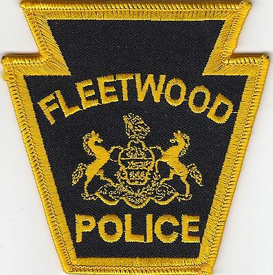 FLEETWOOD POLICE PATCH PENNSYLVANIA PA