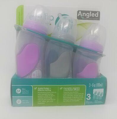Evenflo Advanced Angled Vented 6 Ounce Bottles Purple - 3 Bottles - $15.58