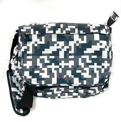 J World New York Thomas Laptop Case Messenger Bag Digital Pixel Camo Design