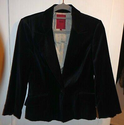 John Richmond @ Debenham's Black Velvet 3/4 Sleeve Blazer Style Jacket - Size 8