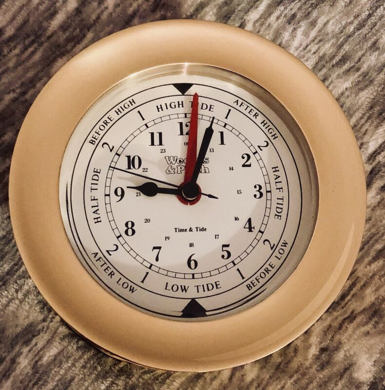 Weems and Plath Atlantis Collection Time and Tide Clock (Brass)