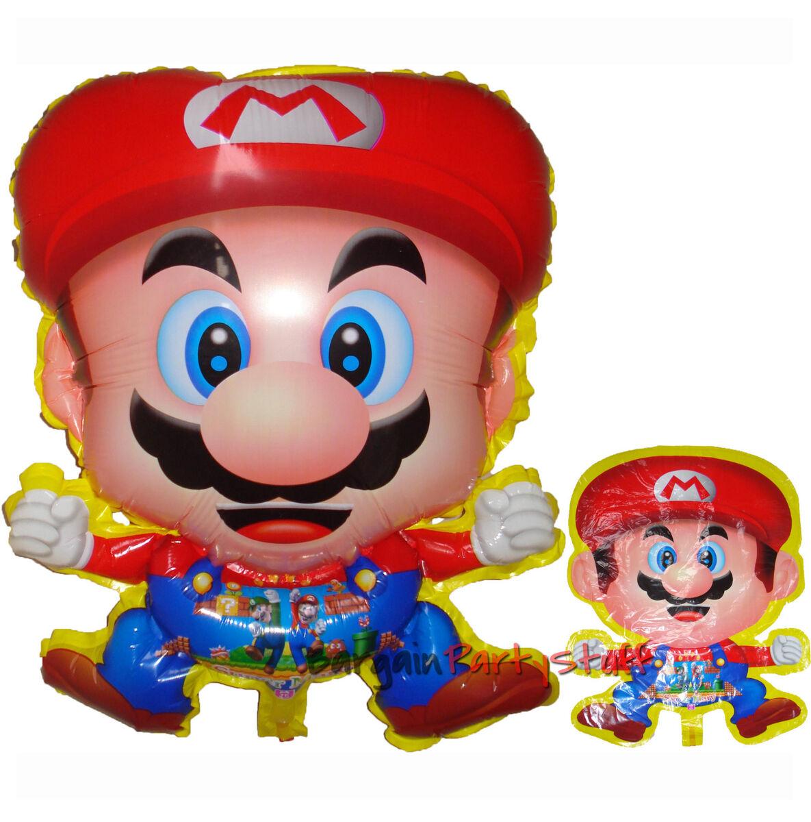 Jumbo Super Mario Bros Birthday Mylar Balloon Party Supplies 3 Peices