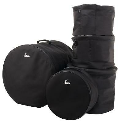 Neu 5-Teile Schlagzeug Taschen Set Gigbag Case Bassdrum Tom Becken Drum Soft Bag