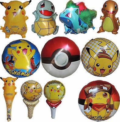 POKEMON PIKACHU POKE BALL BALLOON BIRTHDAY PARTY SUPPLIES DECOR GIFT FAVOR - Pikachu Birthday Supplies
