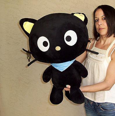 "26"" Sanrio Chococat Black Cat JUMBO Plush Fiesta Stuffed Animal Toy Extra Large"