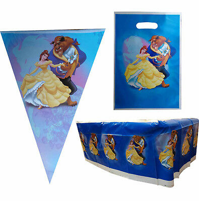 BEAUTY AND THE BEAST PRINCESS BELLE PARTY SUPPLIES BANNER LOOT LOLLY BAGS FAVOR ()