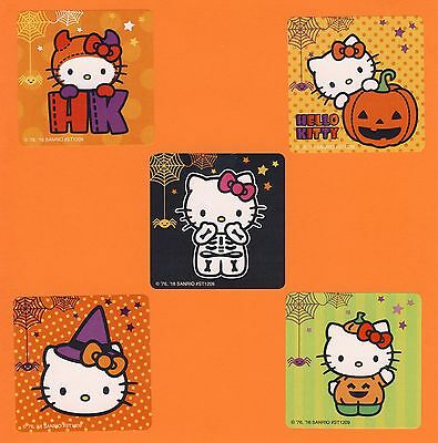 15 Halloween Hello Kitty - Large Stickers - Party Favors - Rewards