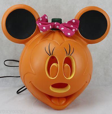 Light Up Pumpkins (Halloween Disney Light Up Minnie Mouse Jack O Lantern Pumpkin 11 in)