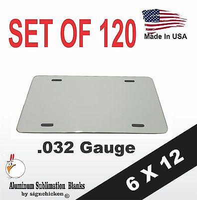 Lot Of 120 Aluminum License Plate Sublimation Blanks 6x 12 .032 Gauge