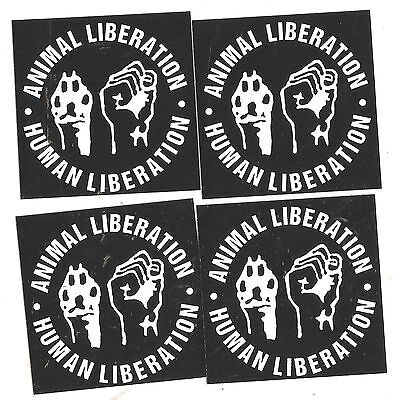 50x Animal Liberation Aufkleber stickers Punk HC sXe Vegetarian ALF Vegan
