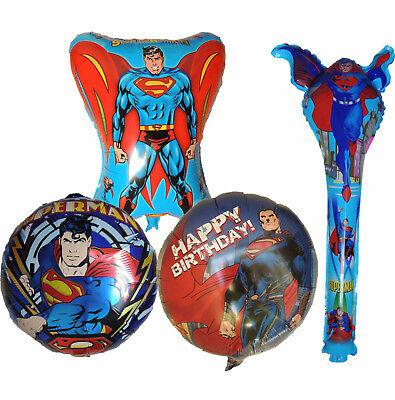 SUPERMAN SUPERHERO BALLOON BIRTHDAY PARTY BAG GIFT CENTERPIECE DECORATION - Superman Party Decorations