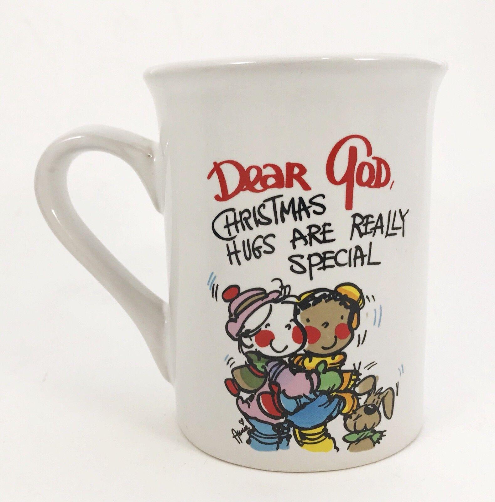 COFFEE MUG CUP Dear God Kids Christmas Hugs Are Really Special ...