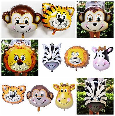 Animal Foil Balloons Kids Decor Safari Jungle Birthday Party Baby Shower - Animal Birthday