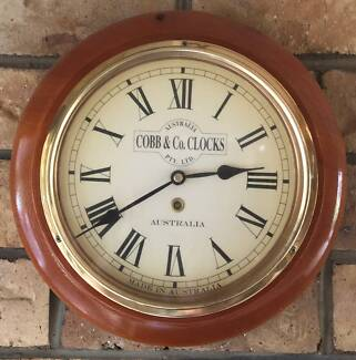 Timber Cobb &Co. Style Clock