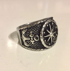 Nautical Compass/Anchor Ring (Men's)