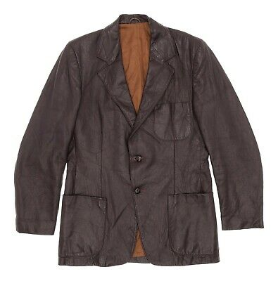 Vintage GRAIS Leather Jacket S Small Mens Western Blazer Angel Skin Leather Coat